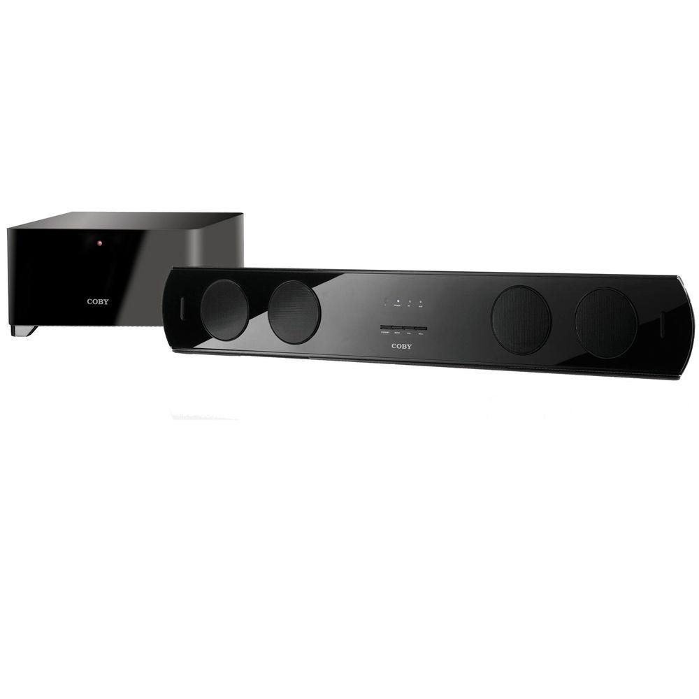 Coby 40 Watt 2.1 Channel Soundbar Speaker System with Wireless Subwoofer-DISCONTINUED