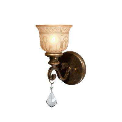 1-Light Bronze Umber Wall Mount Sconce