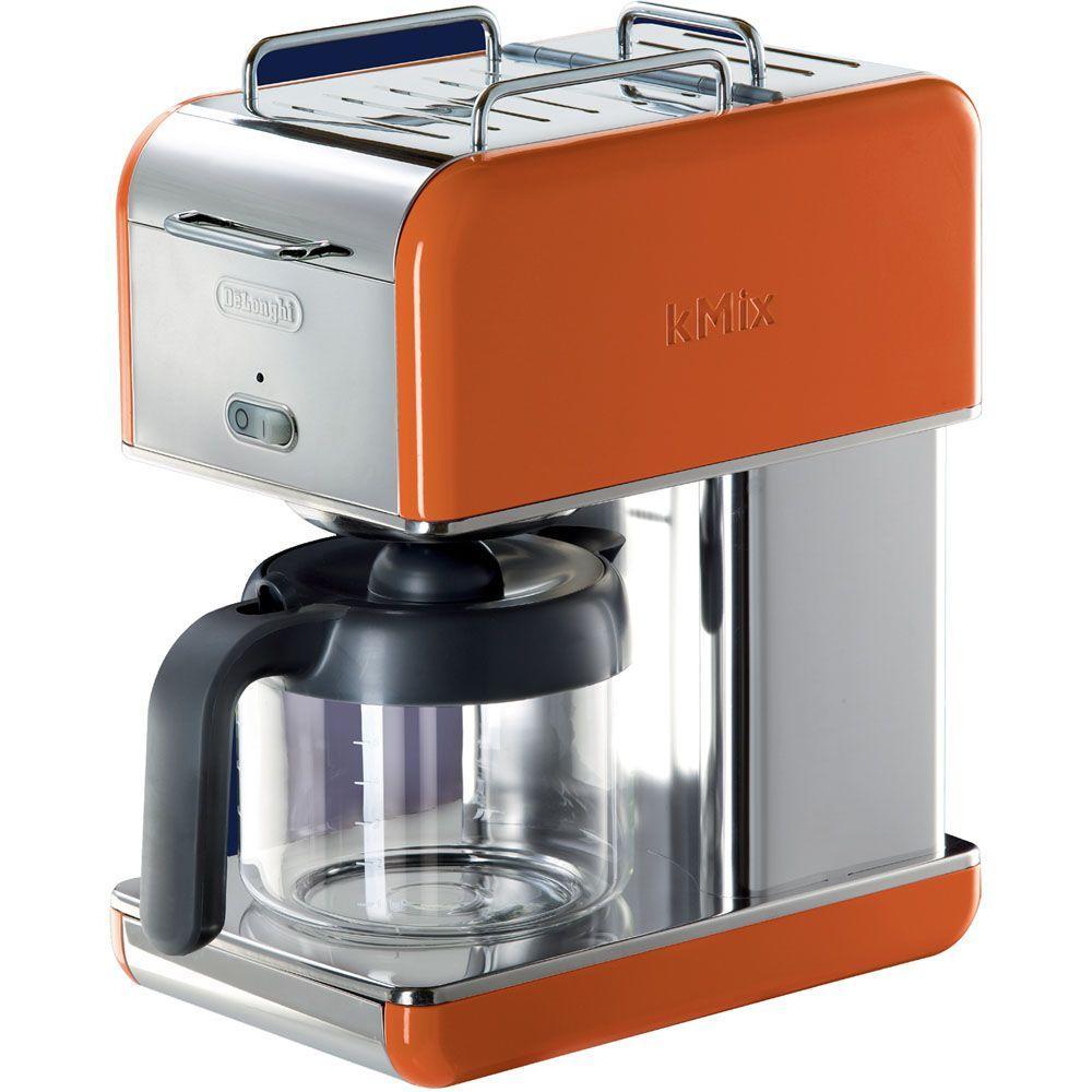 DeLonghi kMix 10-Cup Coffee Maker in Orange