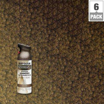 12 oz. All Surface Forged Hammered Chestnut Spray Paint and primer in 1 (6-Pack)