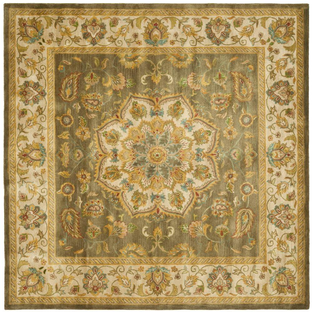 Safavieh Heritage Green Taupe 8 Ft X Square Area Rug