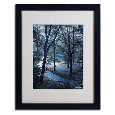 11 in. x 14 in. Snow Flakes Matted Framed Art