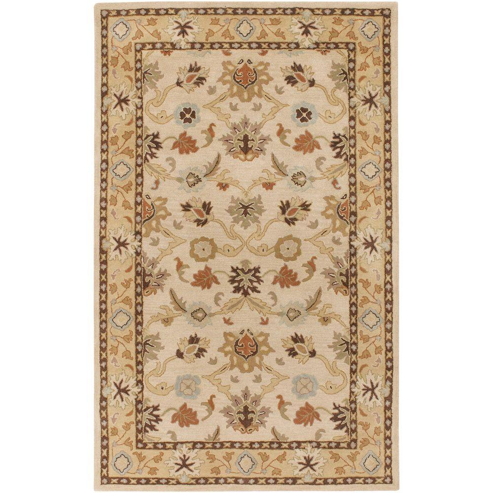 John Beige 5 ft. x 8 ft. Area Rug