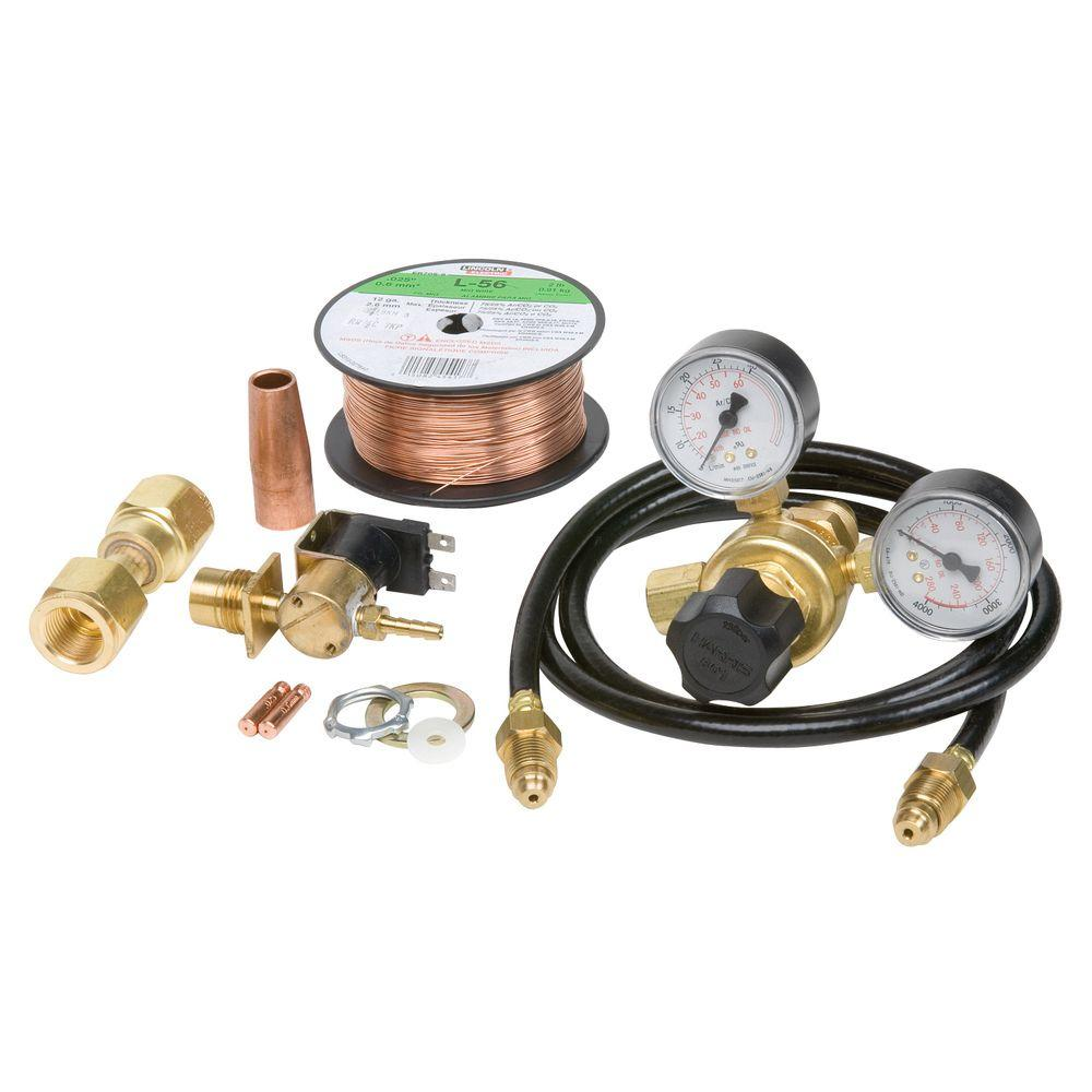 lincoln electric mig conversion kit with 1 4 in regulator with