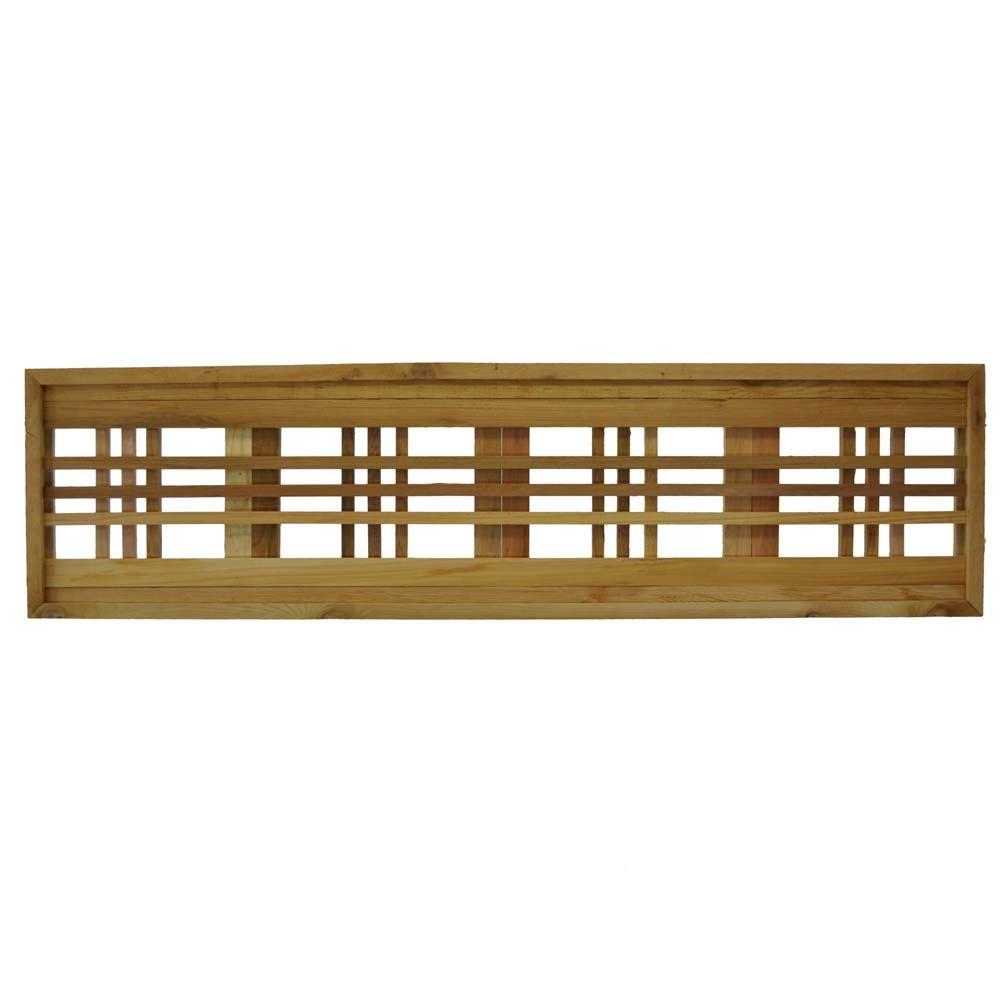 45.75 in. x 12 in. Western Red Cedar Horizontal Pattern Framed