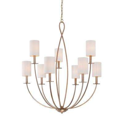 Castana Collection 9-Light Gold Chandelier