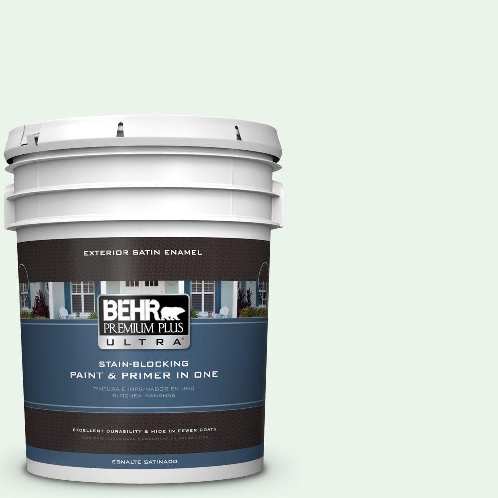 BEHR Premium Plus Ultra 5-gal. #460A-1 Bubble Satin Enamel Exterior Paint