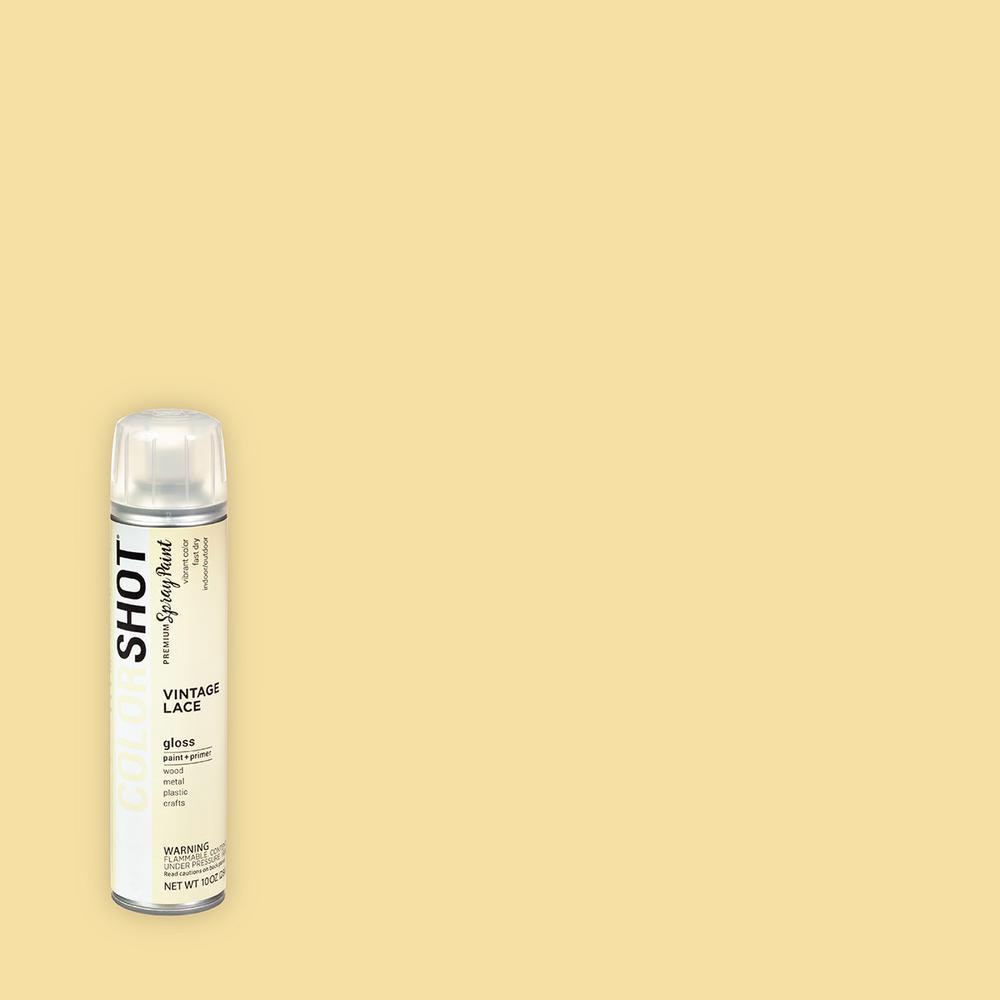 COLORSHOT 10 oz. Gloss Vintage Lace Cream General Purpose Aerosol Spray Paint