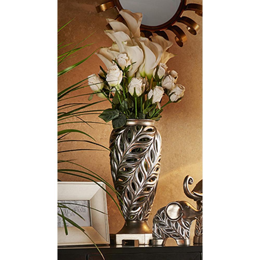 15.75 in. Kiara Silver Decorative Vase