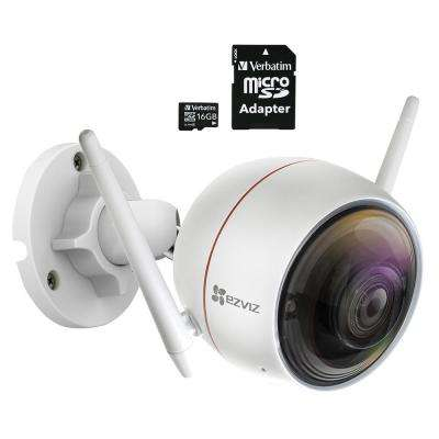 ezGuard C3W 1080p Indoor/Outdoor Bullet Wi-Fi Full HD Security Camera with 16 GB microSDHC Card and Adapter