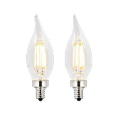 60W Equivalent Clear CA11 Dimmable Filament LED Light Bulb (2-Pack)