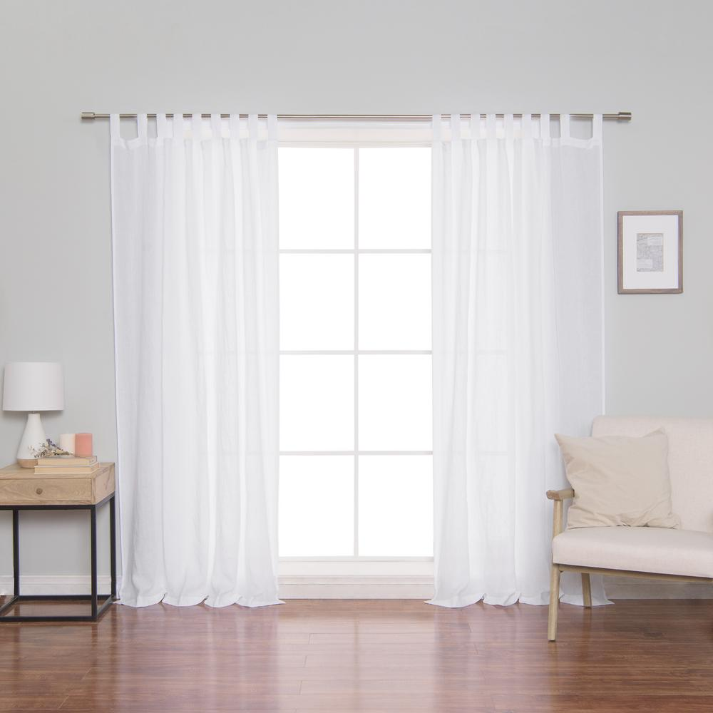 Linen Mid Weight Tab Top Curtain Panel
