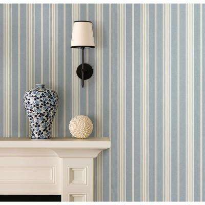 Cooper Denim Cabin Stripe Wallpaper