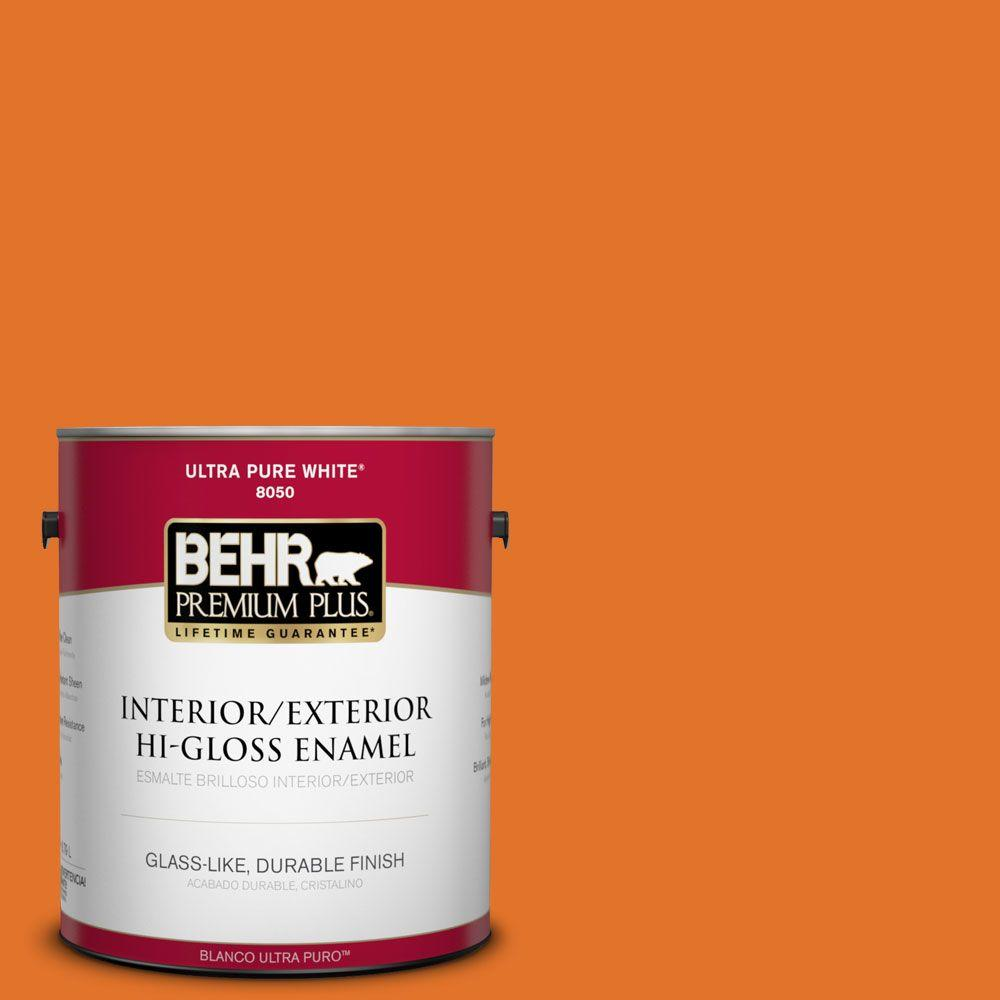 1-gal. #250B-7 Crushed Orange Hi-Gloss Enamel Interior/Exterior Paint