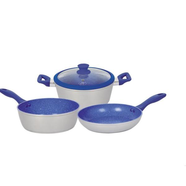 Royal Cook 4-Piece Aluminum Non-Stick Cookware Set with 1-Lid RC 71418