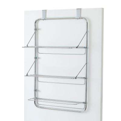 35.05 in. Tall 3-Tier Chrome Over-the-Door Cascading Towel/Drying Rack