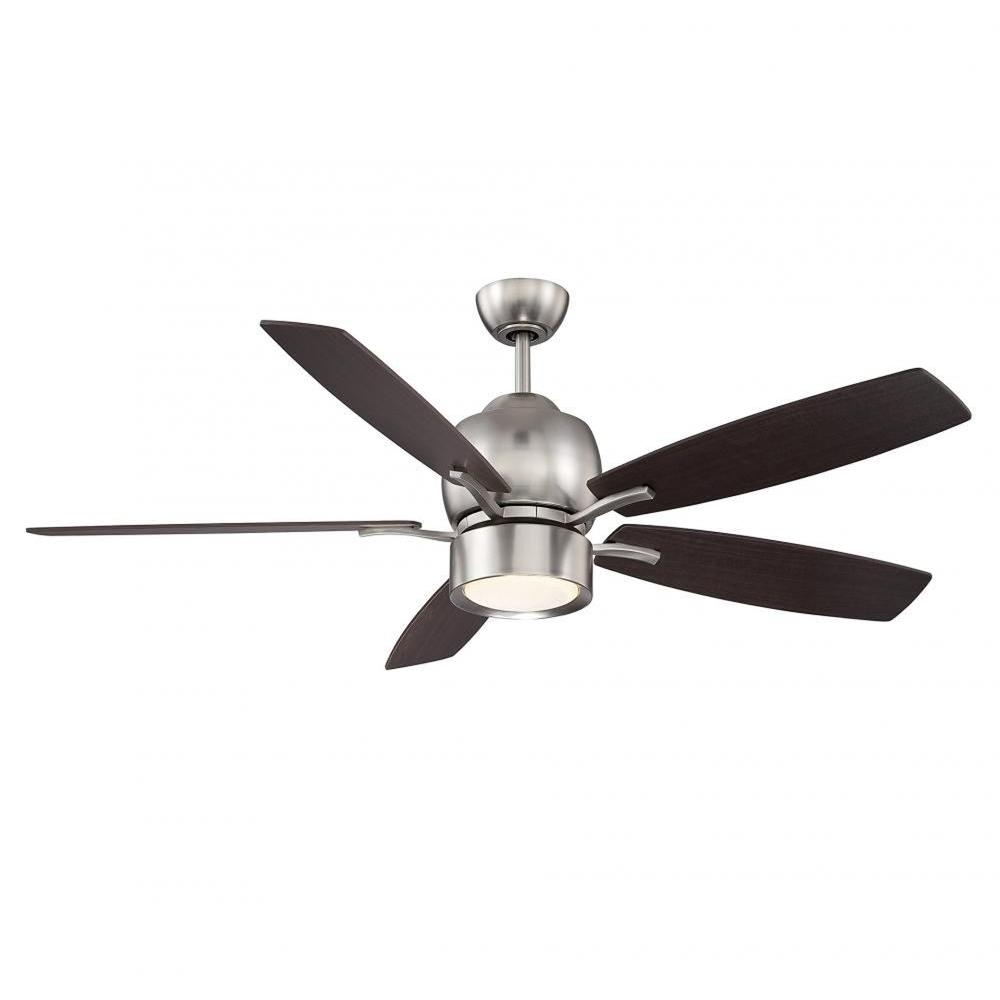Rossendale 52 in. Satin Nickel Indoor Ceiling Fan