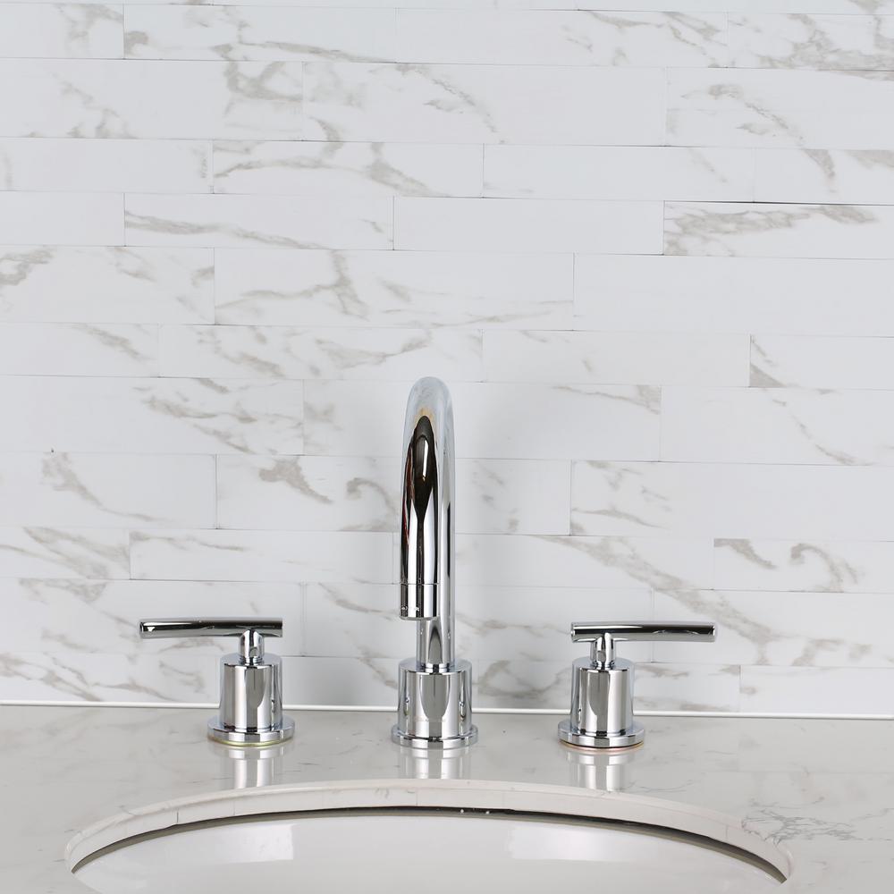 Crawford & Burke Mosaic 6 in. x 24 in. Grey PVC