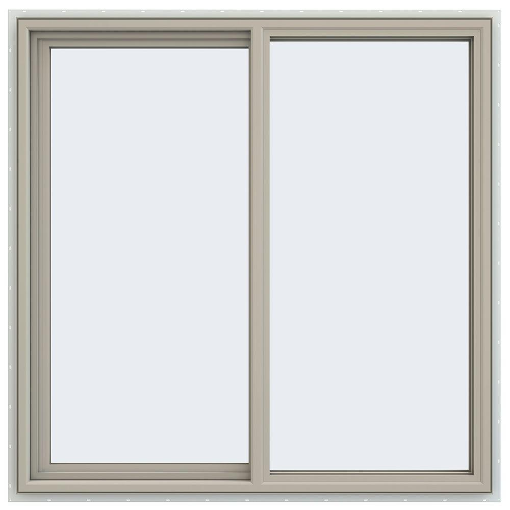 47.5 in. x 47.5 in. V-4500 Series Left-Hand Sliding Vinyl Window