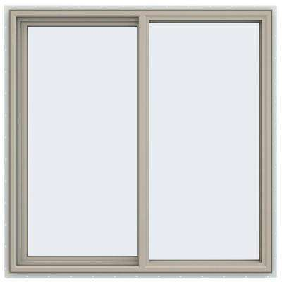47.5 in. x 47.5 in. V-4500 Series Left-Hand Sliding Vinyl Window - Tan