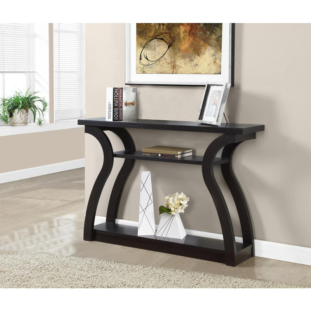 Superb Monarch Specialties Cappuccino Console Table