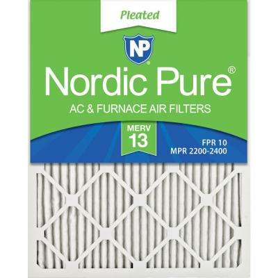 Nordic Pure 18x24x1 MERV 8 Pure Carbon Pleated Odor Reduction AC Furnace Air Filters 2 Pack,