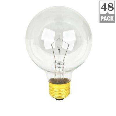 40-Watt Soft White Dimmable Incandescent G25 Clear Light Bulb Maintenance Pack (48-Pack)
