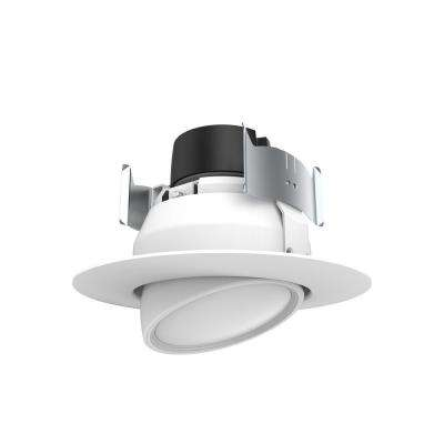 4 in. White Integrated LED Recessed Ceiling Gimbal Retrofit Trim 5000K Daylight