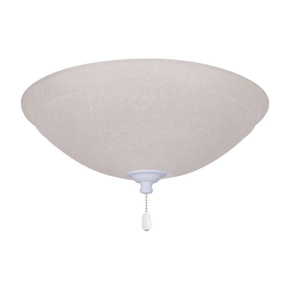 Ashton Whtie Mist 3-Light Satin White Ceiling Fan Light Kit