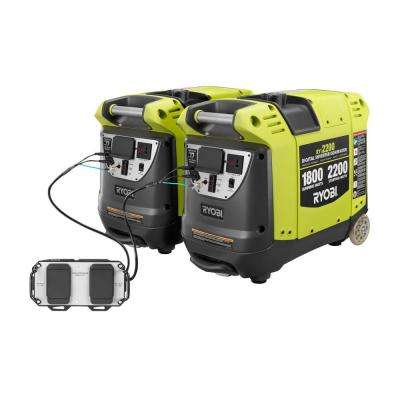 2,200-Watt Gasoline Powered Digital Inverter Generators with Parallel Combo Kit