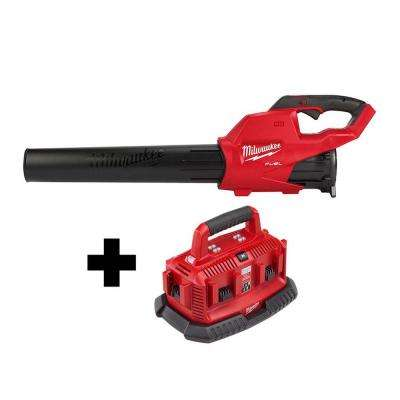 M18 FUEL 120 MPH 450 CFM 18-Volt Lithium-Ion Brushless Cordless Handheld Blower W/ M18 6-Port Sequential Battery Charger