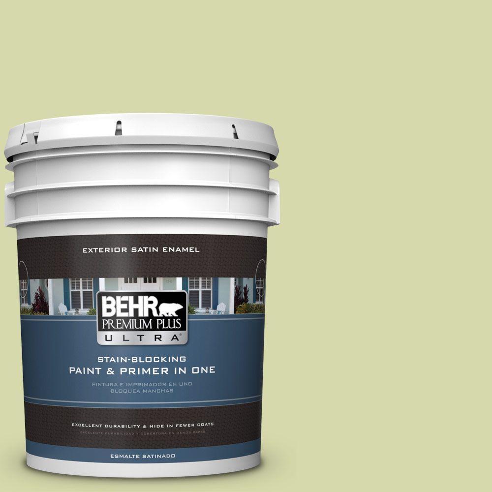 BEHR Premium Plus Ultra 5-gal. #410C-3 Celery Sprig Satin Enamel Exterior Paint