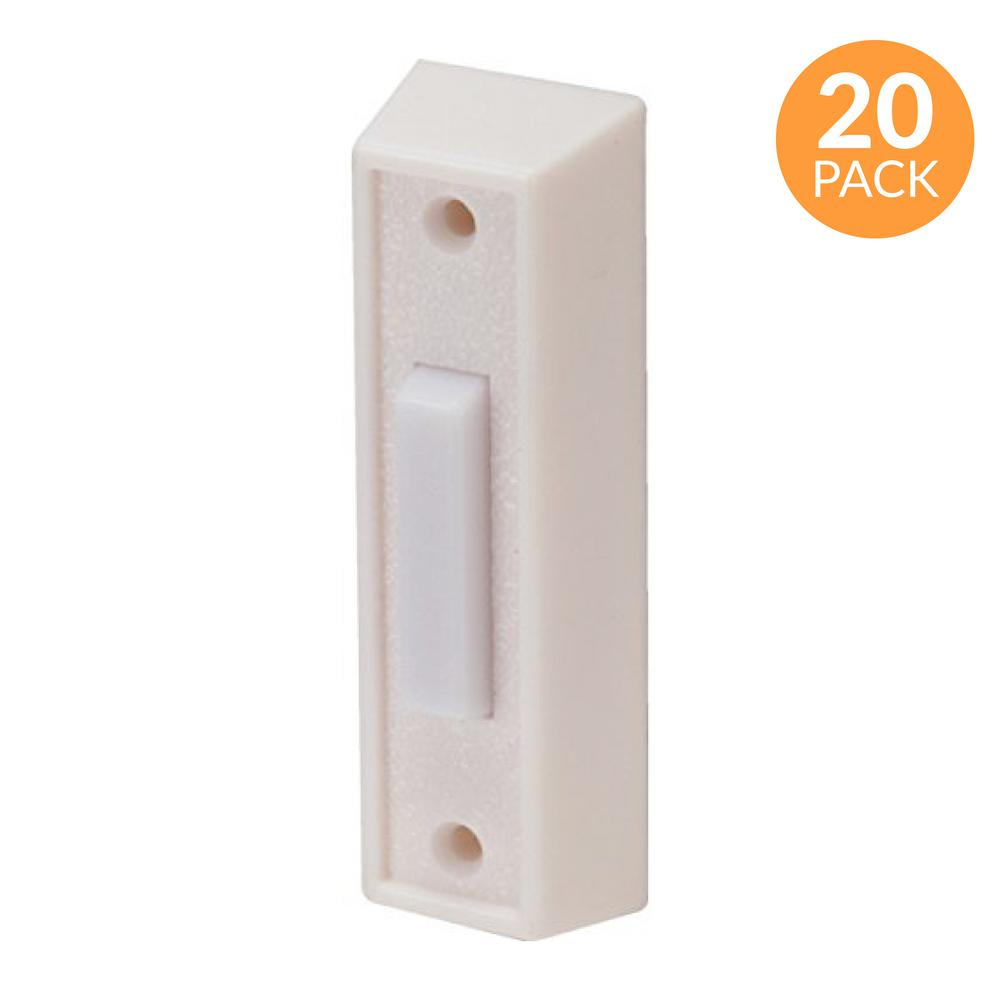 newhouse hardware lighted door chime button - white, 20-pack-bt3wl ...  the home depot
