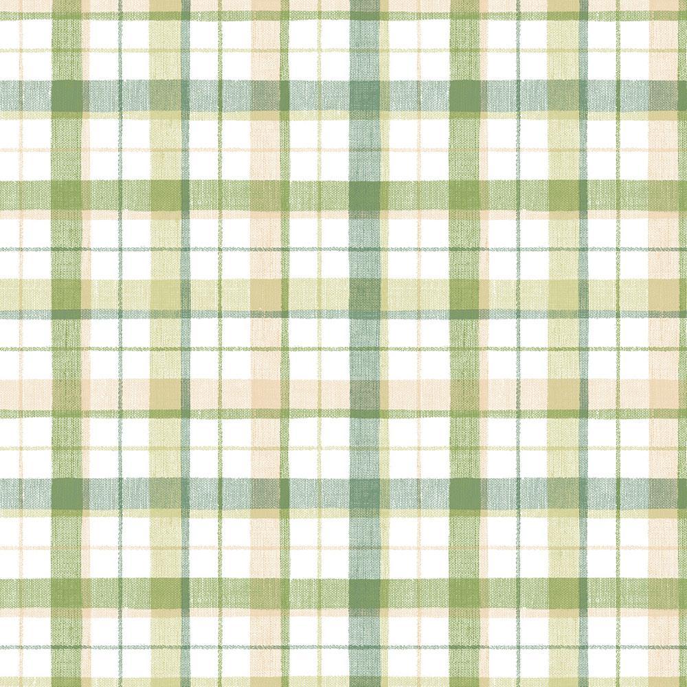 Linen Plaid Wallpaper