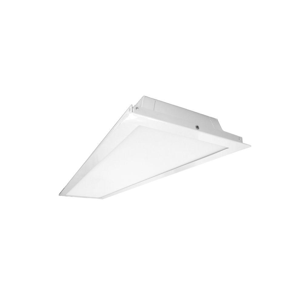 NICOR T3V 1 ft. x 4 ft. White Integrated LED Ceiling Troffer in 3500K
