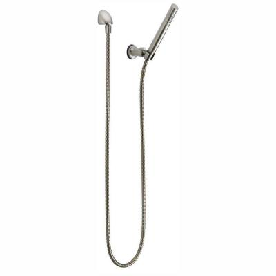 Trinsic 1-Spray 1 in. Single Wall Mount Handheld Shower Head in Stainless