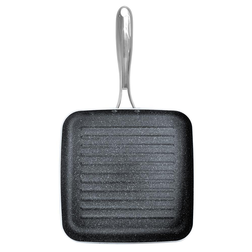 10.5 in. Titanium Non-Stick Diamond Infused Coating Grill Pan