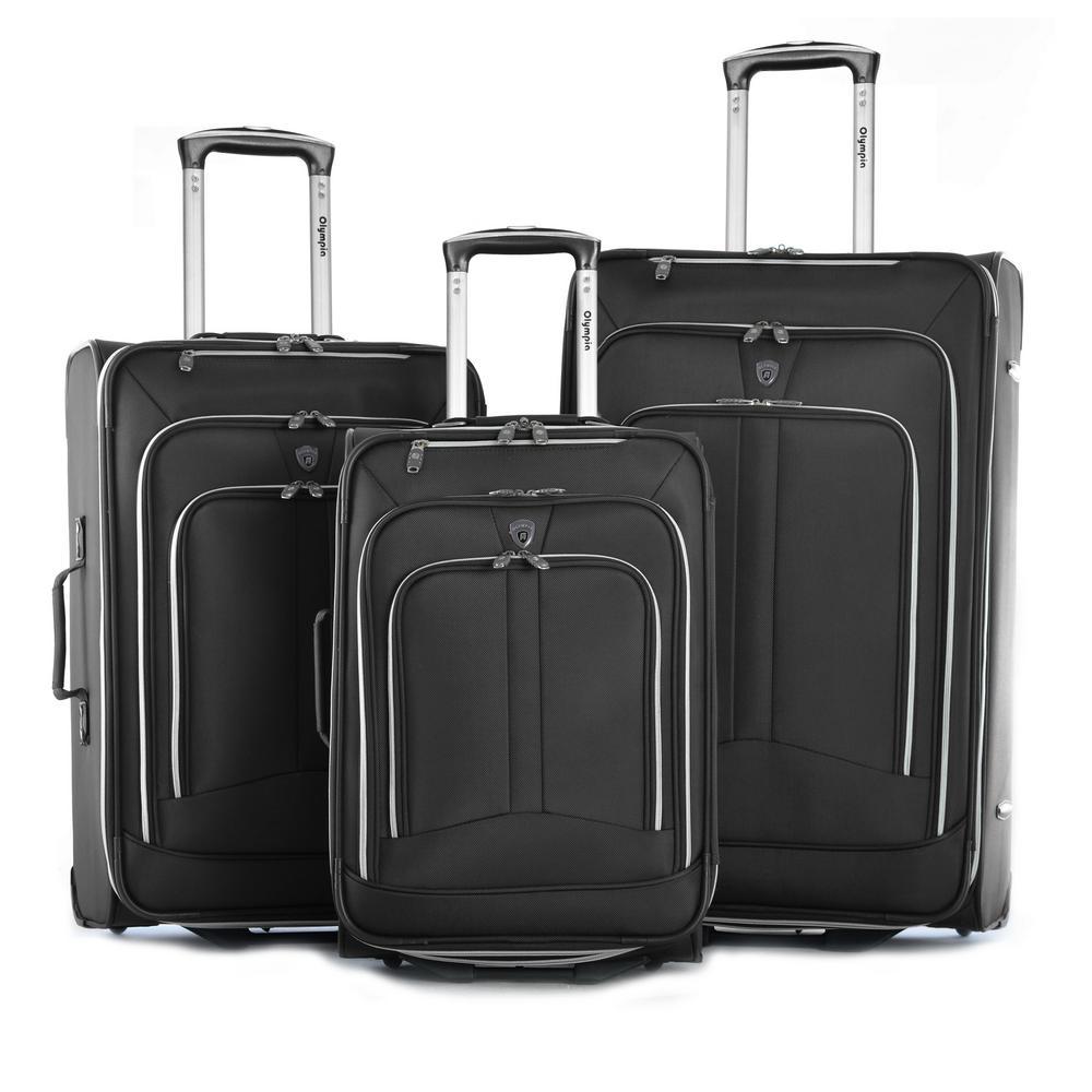 Hamburg 3-Piece Expandable EVA Upright Luggage Set (2-Wheel)