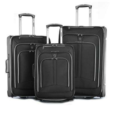Hamburg 3-Piece Expandable EVA Upright Luggage Set (2-Wheel)