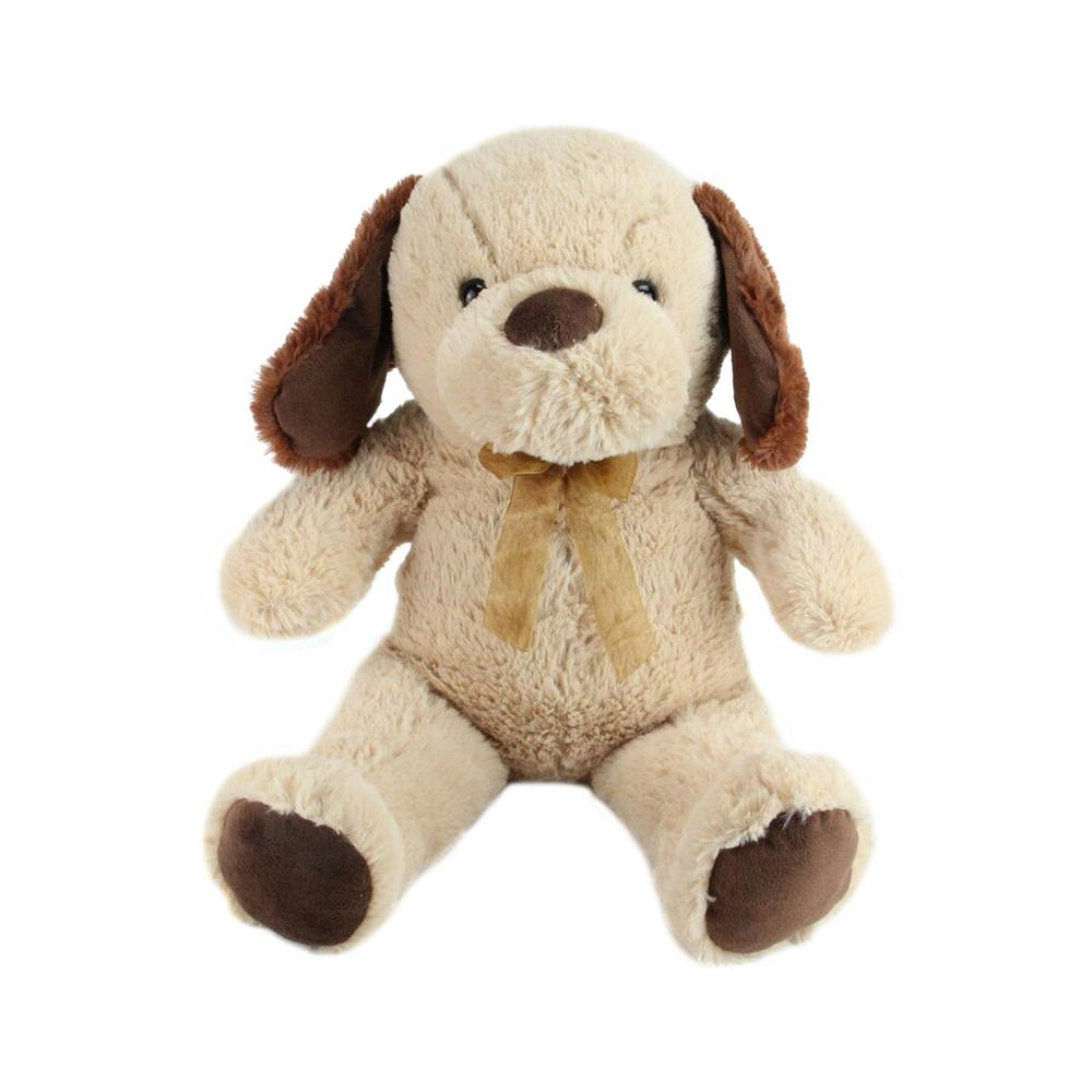 Northlight 21 in. Super Soft Plush Brown and Tan Stuffed Puppy Dog Figure