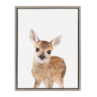 "Sylvie ""Animal Studio Deer"" by Amy Peterson Framed Canvas Wall Art"