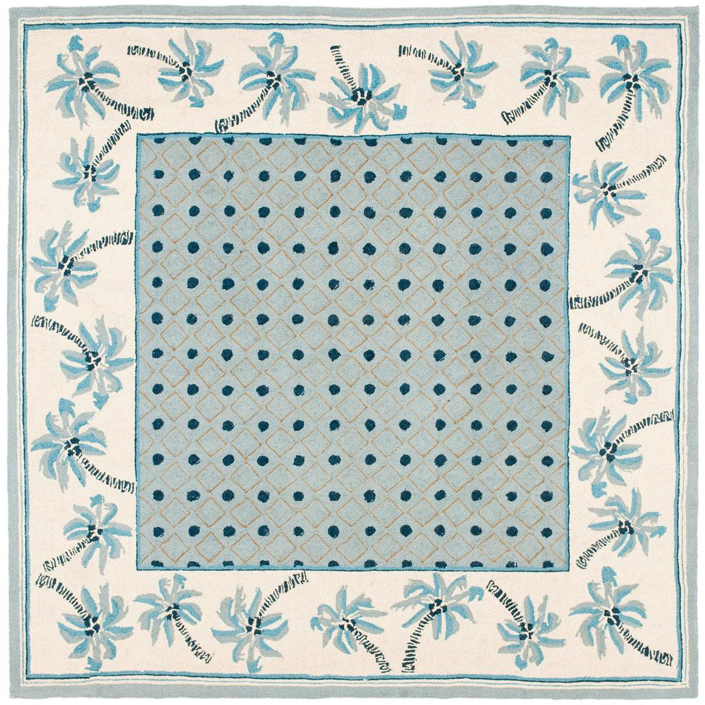 Chelsea Blue/Ivory 6 ft. x 6 ft. Square Area Rug