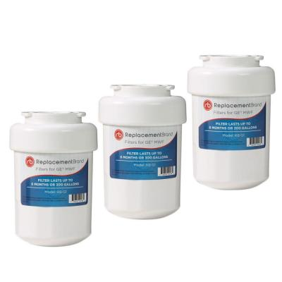 ReplacementBrand Refrigerator Water Filter Comparable to GE MWF (3-Pack)