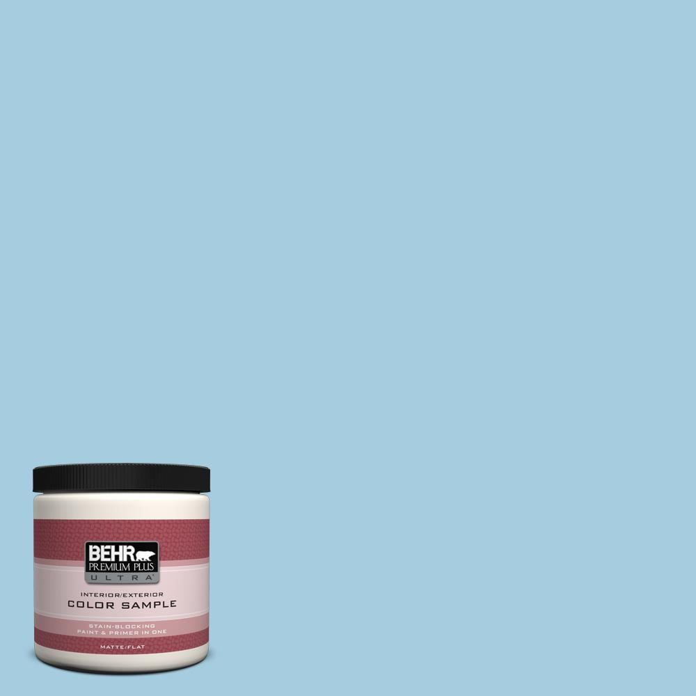 8 oz. #M490-2 Carefree Sky Interior/Exterior Paint Sample