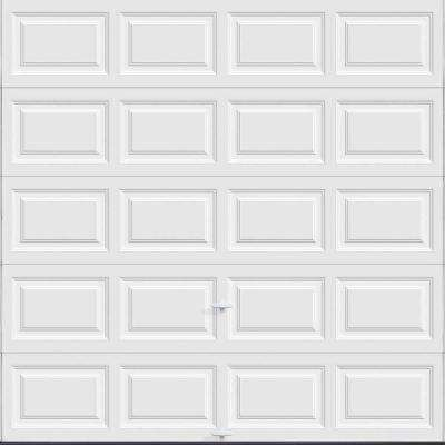 Classic Collection 8 ft. x 8 ft. 18.4 R-Value Intellicore Insulated Solid White Garage Door