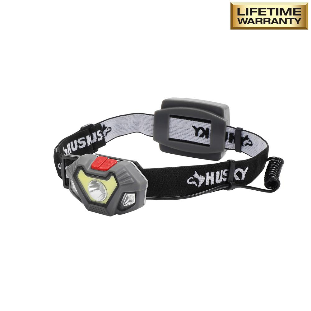 Husky 4AAA 300-Lumen LED Dual Beam Unbreakable Headlight