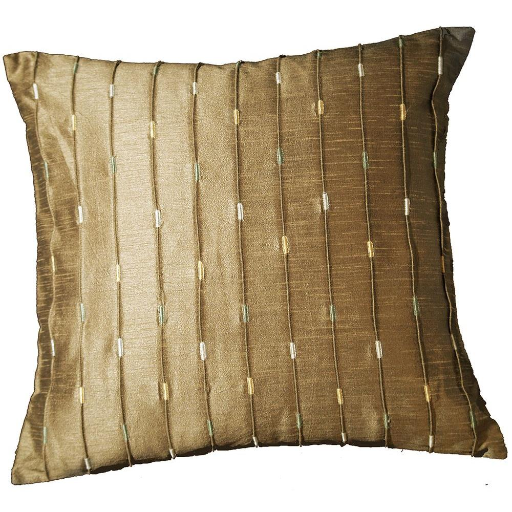 LR Resources Contemporary Neutrino Mole 18 in. x 18 in. Square Decorative Accent Pillow (2-Pack)