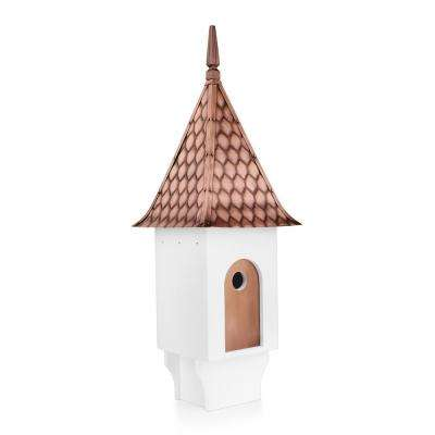 Chateau Bird House Pure Copper Diamond Pattern Roof