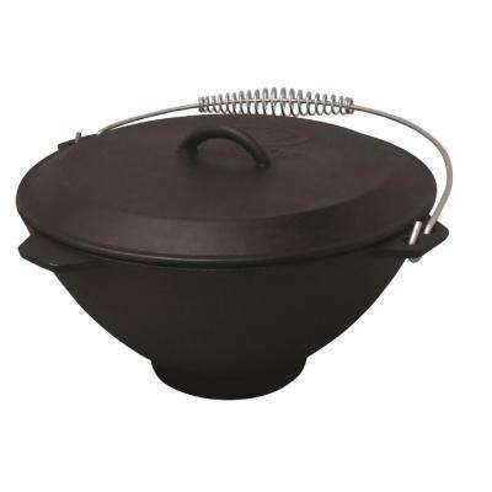 2.75 gal. Seasoned Cast Iron Pot and Lid