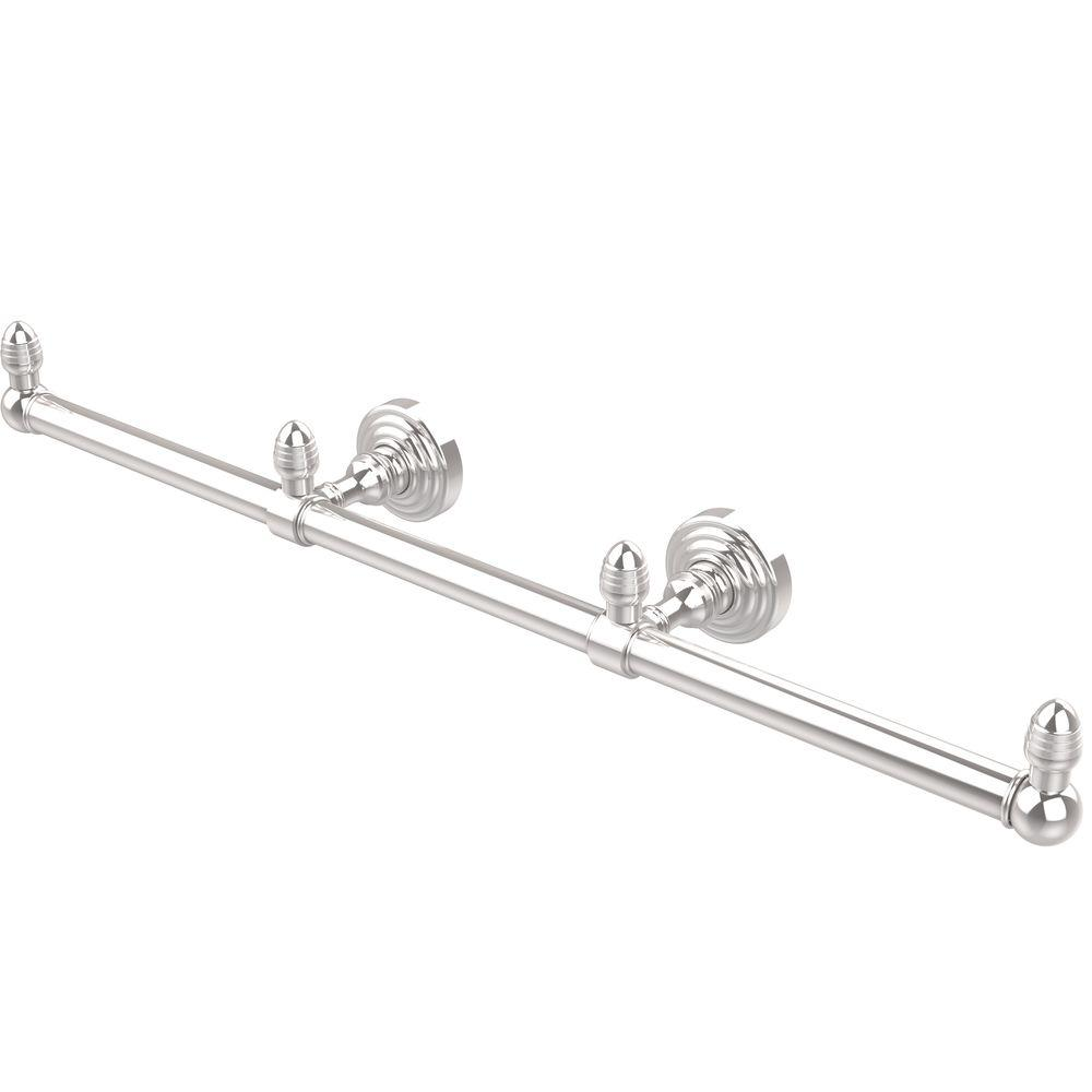 Allied Brass Waverly Place Collection 3-Arm Guest Towel Holder in Polished Chrome